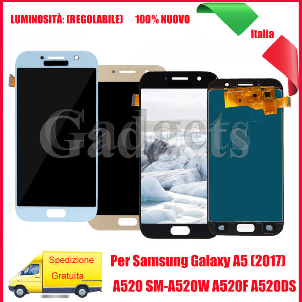LCD Schermo +Touch Screen Per Samsung Galaxy A5 2017 SM-A520F A520 Display Vetro