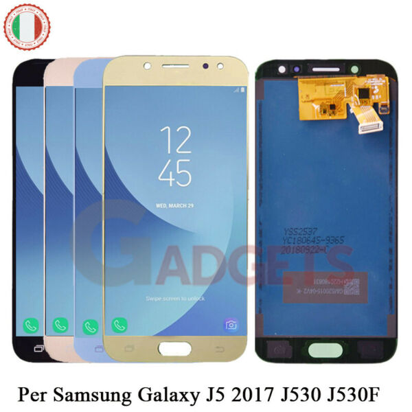 DISPLAY SCHERMO +LCD VETRO TOUCH SCREEN Per Samsung Galaxy J5 2017 J530F