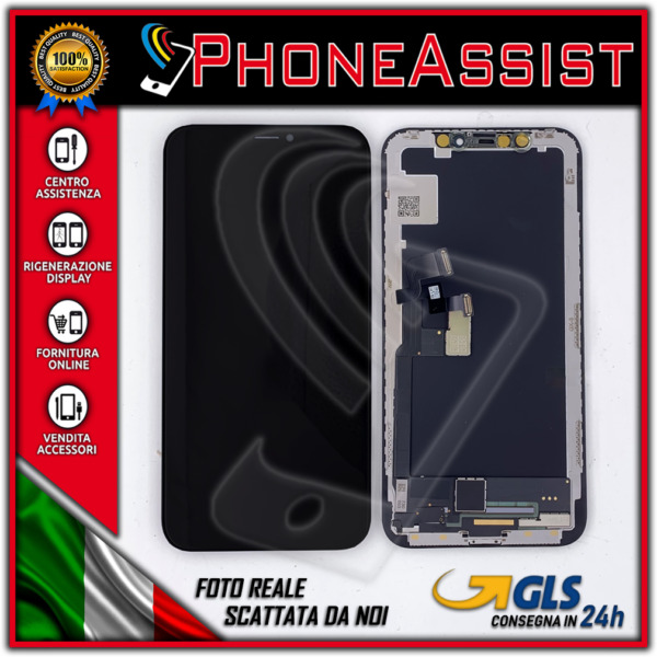 DISPLAY SCHERMO PER APPLE IPHONE X HARD OLED TOUCH SCREEN FRAME LCD ORIGINALE GX