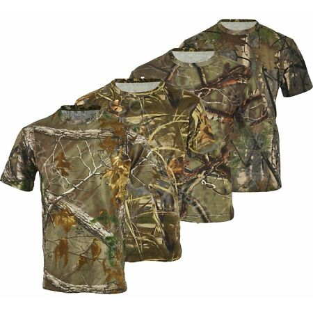 img-Mens Jungle Print Camouflage Army Short Sleeve T Shirt Fishing Hunt