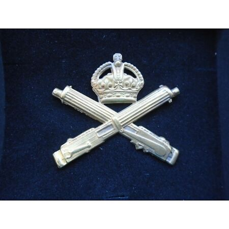 img-WWI MACHINE GUN CORPS, MGC, BRASS CAP BADGE + GIFT BOX HIGH QUALITY REPRODUCTION
