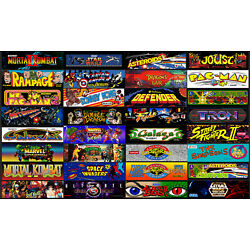 Arcade 1Up Cabinet Marquees Backlit Trans-lite Signs