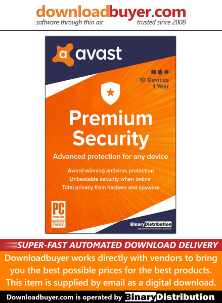 Avast Premium Security 2020 - 10 Devices - 1 Year [Download]