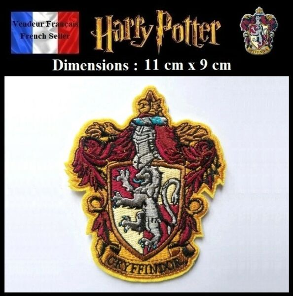 Écusson Brodé Thermocollant NEUF Patch Embroidered Potter Gryffondor Gryffindor
