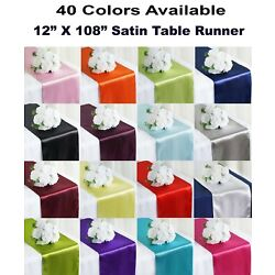 10 Satin Table Runners Chair Swag Wedding Party Decoration 12''X108'' - FREE SHIP