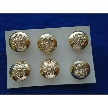 img-6 X QUEENS LANCASHIRE REGIMENT 13MM ANODISED STAYBRITE GOLD CAP, SLEEVE BUTTONS