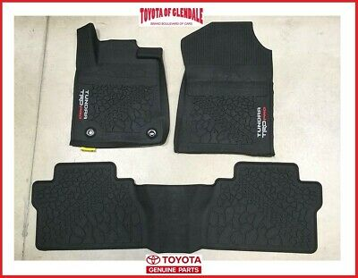2014-2020 TOYOTA TUNDRA TRD PRO ALL WEATHER FLOOR LINERS / RUBBER FLOOR MATS
