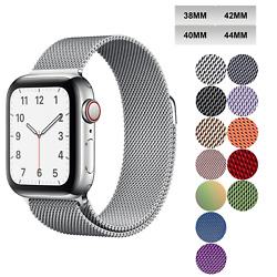 Kyпить Milanese Loop Apple Watch Band For Series 1-6 38mm 40mm 42mm 44mm Magnetic  на еВаy.соm