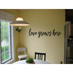 LOVE GROWS HERE VINYL WALL DECAL ART QUOTE WORDS HOME LETTERING STICKER 32''