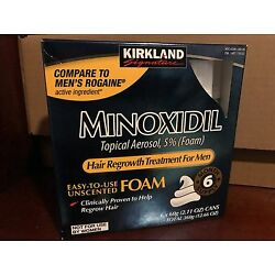 Kyпить Kirkland Hair Regrowth Treatment 5% Minoxidil Foam for Men - 6 Months Supply на еВаy.соm