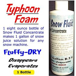 Extra Dry Evaporating Snow Machine Fluid Juice Concentrate - Makes 1 Gallon -
