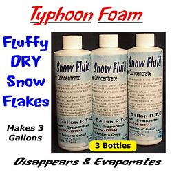 Extra Dry Evaporating Snow Machine Fluid Juice Concentrate - Makes 3 Gallons -