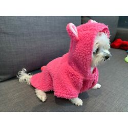 Pink Sherpa Teddy Bear Jacket for Small Dogs Puppies Clothes Medium Pets