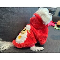 Sherpa Hoody Sweater Red Sheep for small dog clothes XS