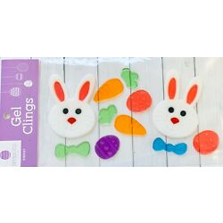 Happy Easter Spring Bunny Window Gel Sticker Cling Decorations Classroom Decor