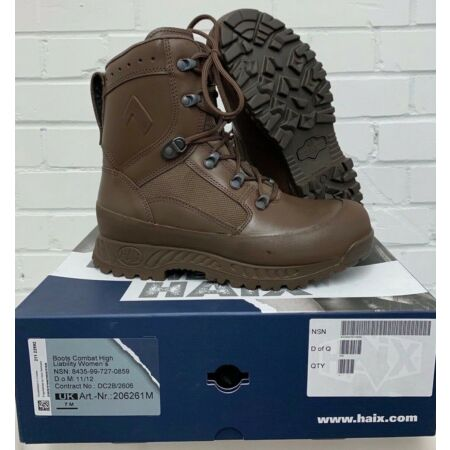 img-HAIX MENS BROWN LEATHER HIGH LIABILITY COMBAT BOOTS - Sizes , British Army , NEW