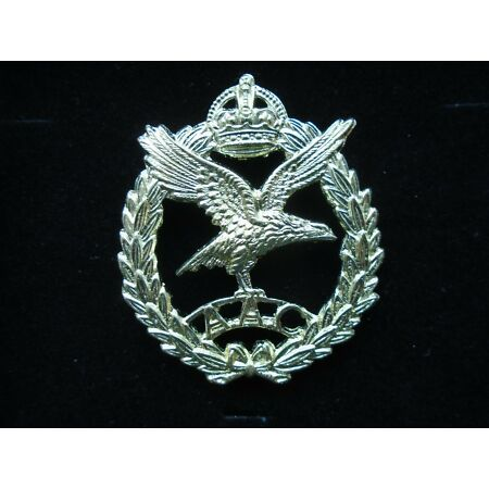 img-WWII BRITISH ARMY AIR CORPS, AAC, CAP BADGE + GIFT BOX HIGH QUALITY REPRODUCTION