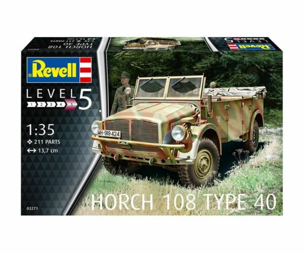 AllemagneRevell Model  Set Military Vehicle Horch 108 Type 40 1:3 5 Plastic