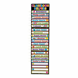 Classroom Helpers Clip Chart - Educational - 33 Pieces