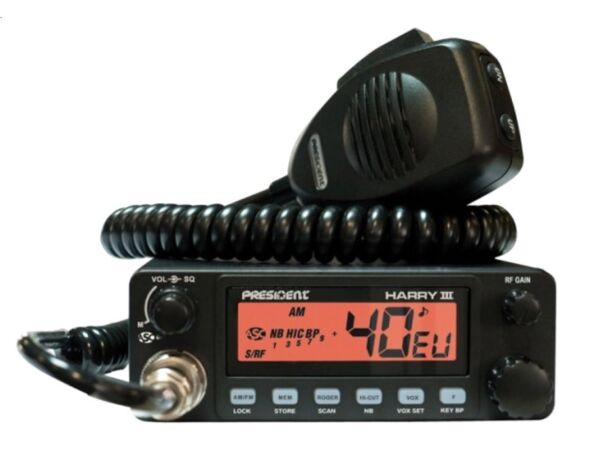 CB Radio President Harry III 3 12/24Volt Asc Multi 6Band Am/Fm Lkw Actros Man