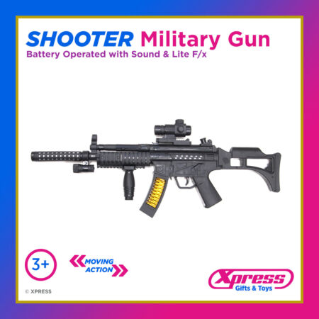 img-Shooter Military Assault Rifle Gun Toy Army Boys Girls Lights Action Sounds