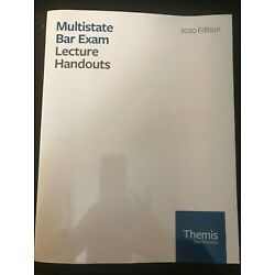 2020 Themis Bar Review MBE - Multistate Bar Exam - MBE Lecture Handouts - NEW