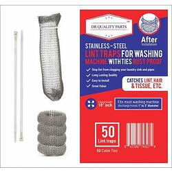 Kyпить 50 Lot Washing Machine Lint Traps Snare Filter Screen Stainless Steel Mesh Ties на еВаy.соm