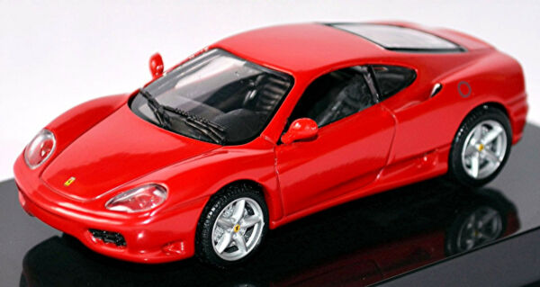 AllemagneFerrari 360 Modena Coupé 1999-2005 Rouge Rouge 1:43 Hot Wheels