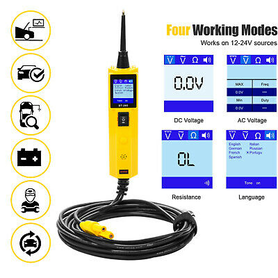 Car Circuit Tester Power Probe 12V/24V Automotive Electrical System Diagnostic
