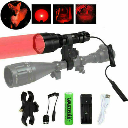 img-Tactical Red/Green/White Beam Lamp LED Flashlights Night Torch For Hunting Torch
