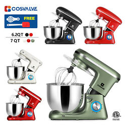 Kyпить 6.2QT 7QT Stand Mixer 6-Speed Electric Kitchen Tilt-Head Dough Hook Whisk Beater на еВаy.соm