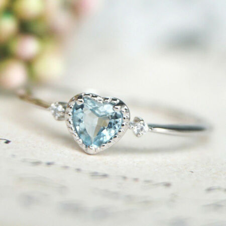 img-Women's Treasure Rings America Inlaid Navy Blue Topaz Heart Engagement Rings FB