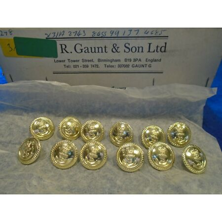 img-12 X NEW ROYAL NAVY 19MM ANODISED GOLD OFFICERS JACKET/BLAZER NAVAL BUTTONS