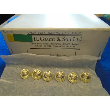 img-6 X NEW ROYAL NAVY 19MM ANODISED GOLD OFFICERS JACKET/BLAZER NAVAL BUTTONS
