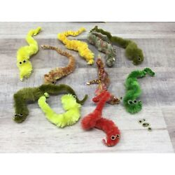 Vintage Squirmles Squiggly Fuzzy Worms Magical Toy Nostalgia Lot of 200