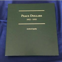 Kyпить PEACE DOLLARS 1921-1935 COIN ALBUM - NO COINS -  JBS253 на еВаy.соm