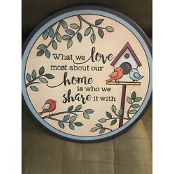 Ganz Lazy Susan Model ER53903  What We Love Most About Our Home .. 11.5 H X 14
