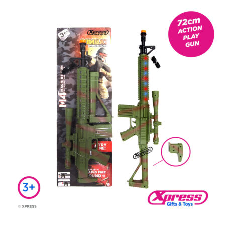img-M4 CAMOUFLAGE MACHINE GUN Assault Rifle Toy Camo Gun Army Lights Action Sounds