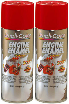 Duplicolor Ceramic Bright Red Engine Paint (12 oz) - 2 Pack DUPDE1653-2PK