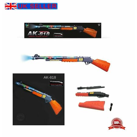 img-LARGE 89CM SNIPER GUN AK 818 MILITARY WEAPON ARMY ASSAULT KIDS LIGHTS SOUNDS TOY