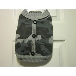 Top Paw Dog Apparel Outerwear Grey Camouflage Sweater U PICK SIZE NEW