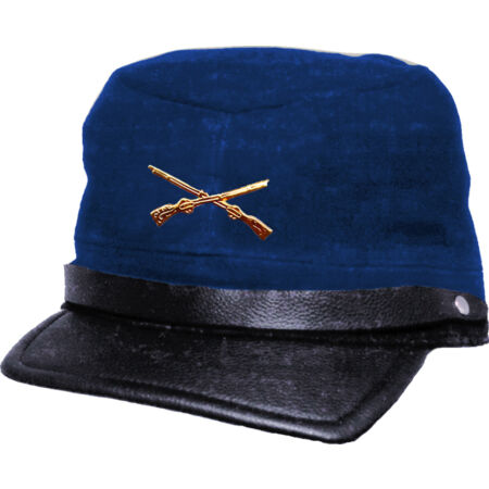 img-Country Western Biker Leather Cap Southern States - Csa Gerneral Lee - Blue
