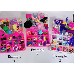Kyпить Mattel Barbie Accessories 50+pcs with Organizer ~ Shoes, Jewelry, Hats  & More на еВаy.соm