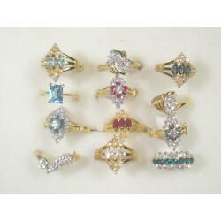 Kyпить   12... . DESIGNER  DOLPHIN ORE RINGS VINTAGE WITH SWAROVSKI CRYSTALS LOT 182UP на еВаy.соm