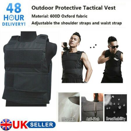 img-Security Anti-Stab Tactical Proof Vest Protecting Body Armour Defence Saft Guard