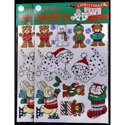TWO (2) Christmas Paper Magic Smart Stix textured Vinyl Sheet Packages ''Animals''