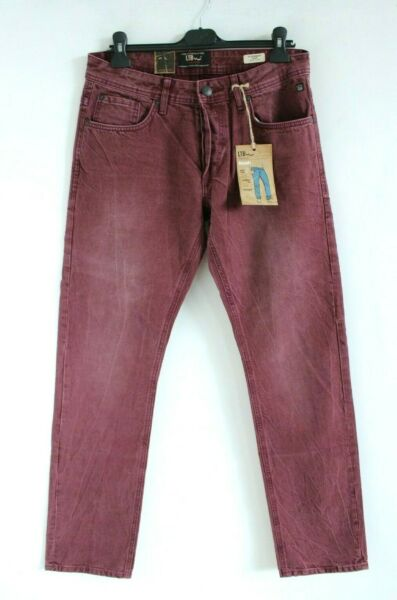 LituanieLTB BNWT Violet Taille Moyenne Droit Jambe Slim Fit Hommes Jean Taille W31 L34