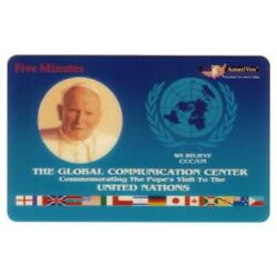Kyпить 5m Pope John Paul II Visit To The United Nations (Oct. 1994 Issue) Phone Card на еВаy.соm
