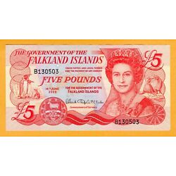 Kyпить Falkland Islands aUNC 2005 £5 Pound banknote depicting Queen Elizabeth II P-17a на еВаy.соm