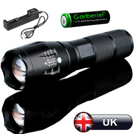img-LED CREET6 Torch Rechargeable Flashlight Police Tactical Zoom Camping Lamp 18650
